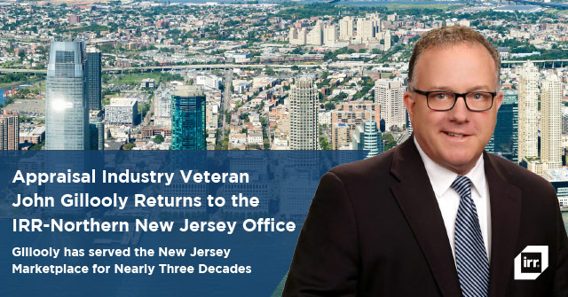 Appraisal Industry Veteran John Gillooly Returns to Integra Realty Resources' Northern New Jersey Office