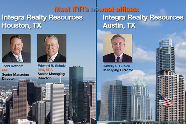 Integra Realty Resources (IRR), announced today that it has re-established operations under new leadership in the Houston market.