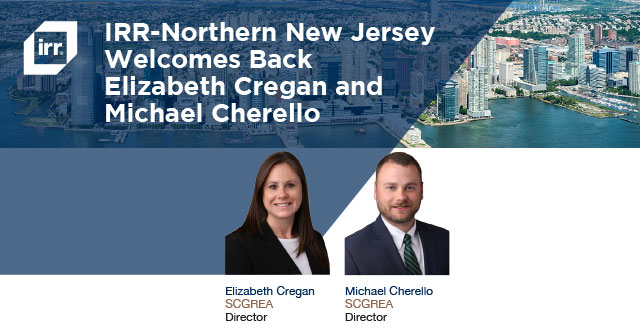 IRR-NNJ Welcomes Back Two Industry Veterans
