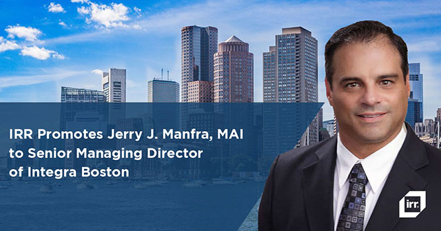 Jerry Manfra promoted to SMD at Integra Boston