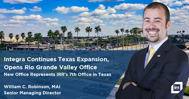 Integra Realty Resources Continues Texas Expansion, Opens Rio Grande Valley Office