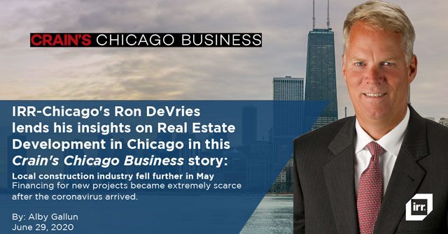 Ron DeVries in Crain's Chicago Business