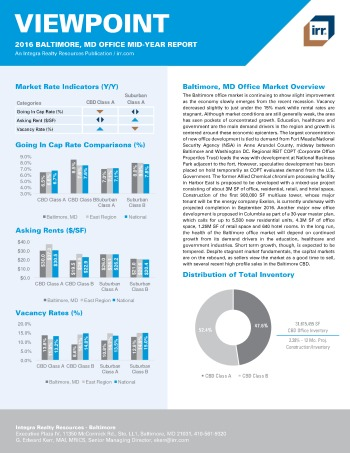 2016 Mid-Year Viewpoint Baltimore Office Report