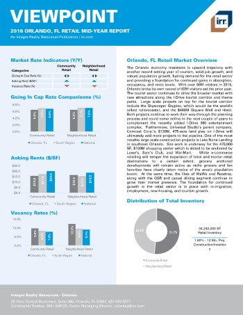 2016 Mid-Year Viewpoint Orlando Retail Report