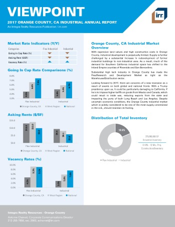 2017 Viewpoint Orange County Industrial Report