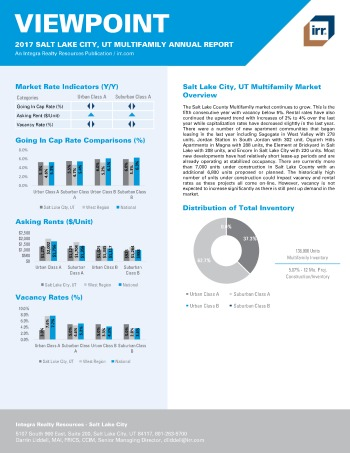 2017 Viewpoint Salt Lake City Multifamily Report