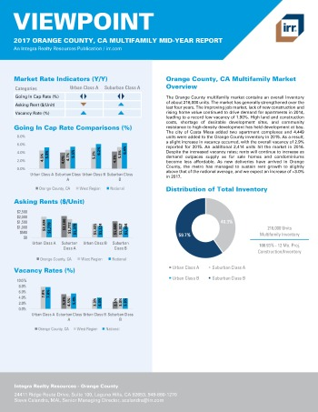 2017 Mid-Year Viewpoint Orange County Multifamily Report