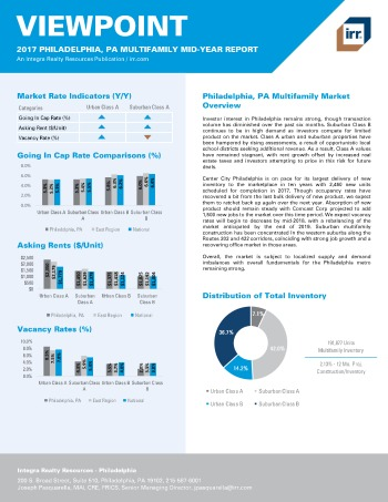 2017 Mid-Year Viewpoint Philadelphia Multifamily Report