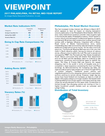 2017 Mid-Year Viewpoint Philadelphia Retail Report