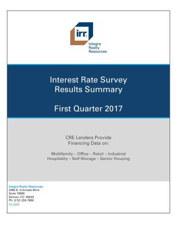 Q1 2017 IRR Interest Rate Survey Results Summary
