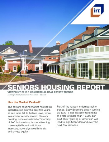 2016 Viewpoint National Senior Housing Report