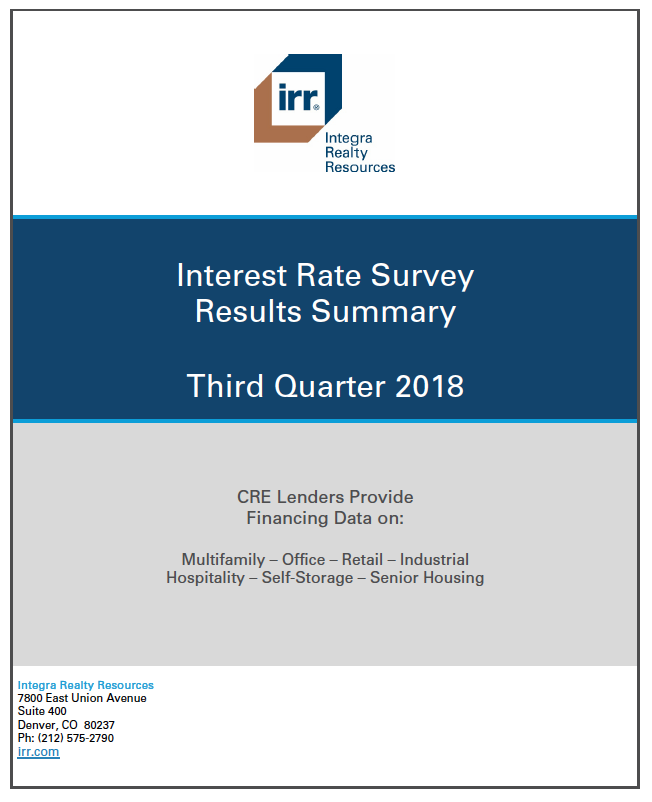 Q3 2018 IRR Interest Rate Survey Results Summary