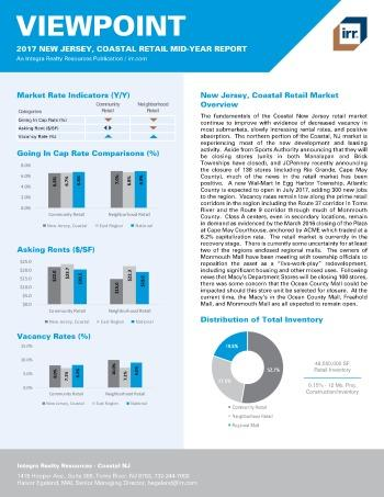 2017 Mid-Year Viewpoint New Jersey Coastal Retail Report