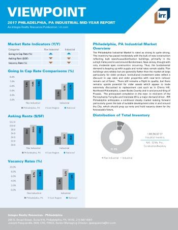 2017 Mid-Year Viewpoint Philadelphia Industrial Report