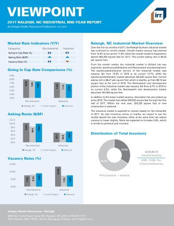 2017 Mid-Year Viewpoint Raleigh Industrial Report