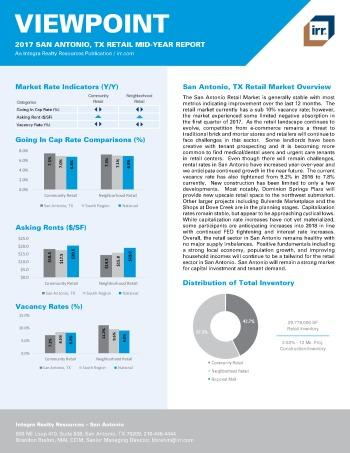 2017 Mid-Year Viewpoint San Antonio Retail Report