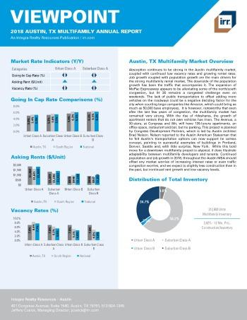 2018 Viewpoint Austin Multifamily Report
