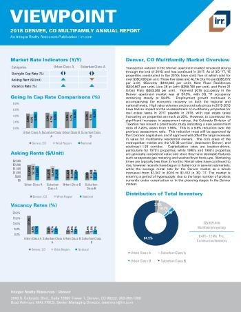 2018 Viewpoint Denver Multifamily Report