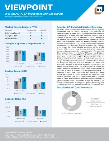 2019 Annual Viewpoint Atlanta Industrial Report