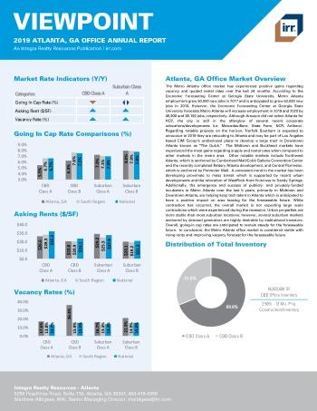 2019 Annual Viewpoint Atlanta Office Report