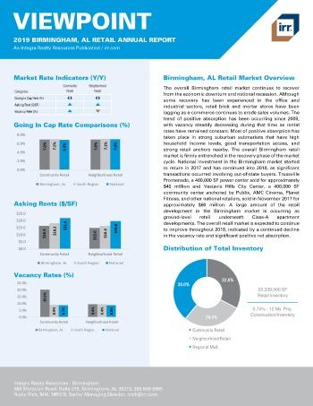 2019 Annual Viewpoint Birmingham Retail Report