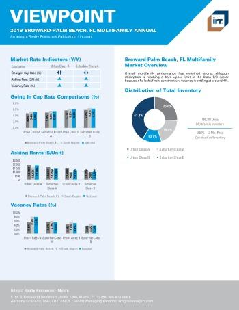 2019 Annual Viewpoint Broward-Palm Beach Multifamily Report