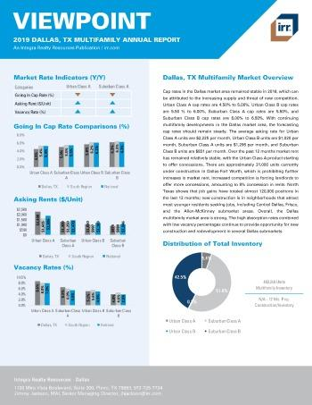 2019 Annual Viewpoint Dallas Multifamily Report