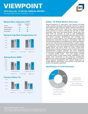 2019 Annual Viewpoint Dallas Retail Report