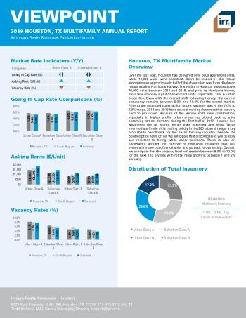 2019 Annual Viewpoint Houston Multifamily Report