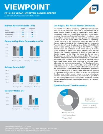 2019 Annual Viewpoint Las Vegas Retail Report