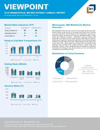 2019 Annual Viewpoint Minneapolis Multifamily Report