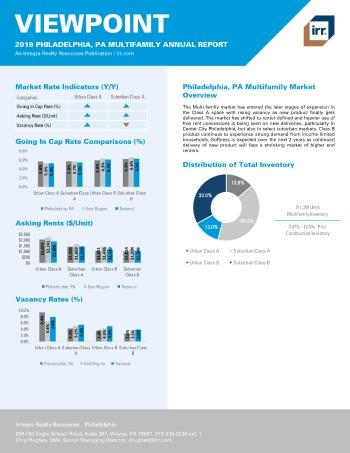 2019 Annual Viewpoint Philadelphia Multifamily Report