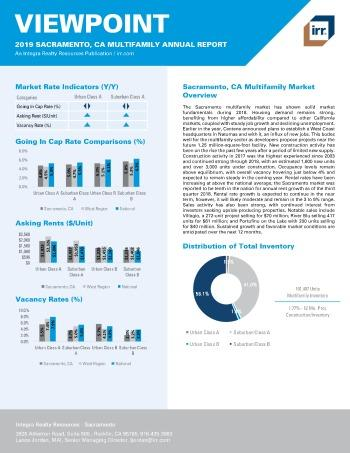 2019 Annual Viewpoint Sacramento Multifamily Report