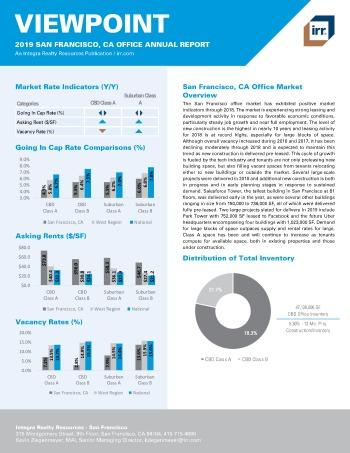 2019 Annual Viewpoint San Francisco Office Report