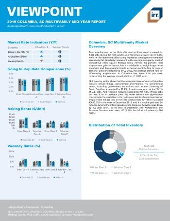 2019 Mid-Year Viewpoint Columbia Multifamily Report