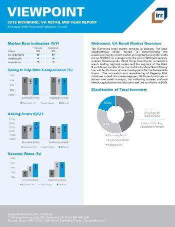 2019 Mid-Year Viewpoint Richmond Retail Report