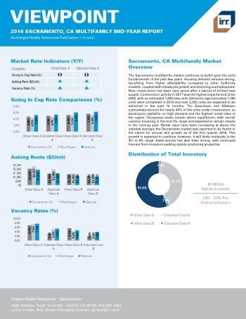 2019 Mid-Year Viewpoint Sacramento Multifamily Report