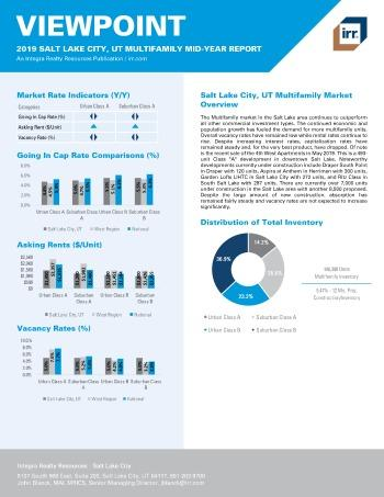 2019 Mid-Year Viewpoint Salt Lake City Multifamily Report