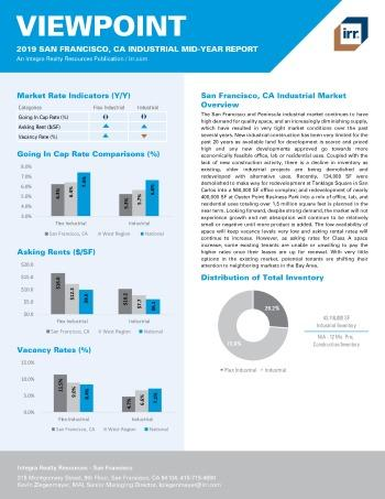 2019 Mid-Year Viewpoint San Francisco Industrial Report