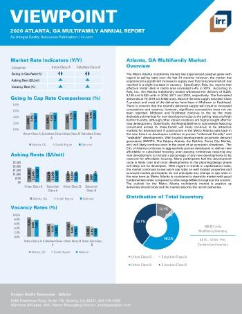 2020 Annual Viewpoint Atlanta Multifamily Report