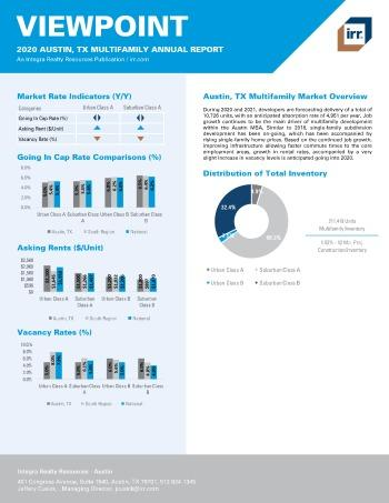 2020 Annual Viewpoint Austin Multifamily Report
