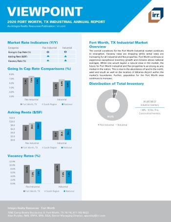 2020 Annual Viewpoint Fort Worth Industrial Report