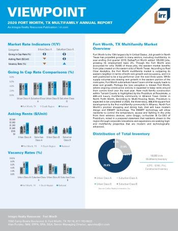 2020 Annual Viewpoint Fort Worth Multifamily Report