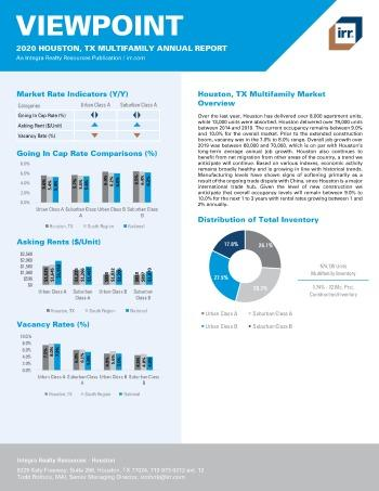 2020 Annual Viewpoint Houston Multifamily Report