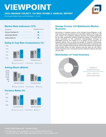 2020 Annual Viewpoint Orange County Multifamily Report