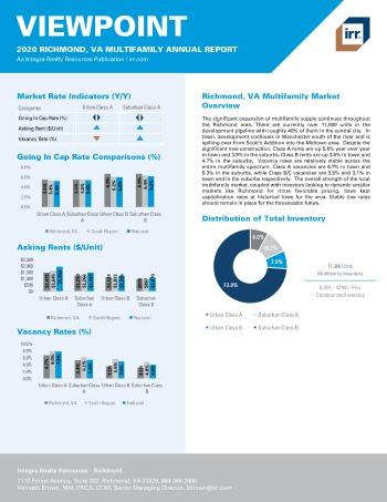 2020 Annual Viewpoint Richmond Multifamily Report