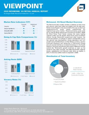 2020 Annual Viewpoint Richmond Retail Report
