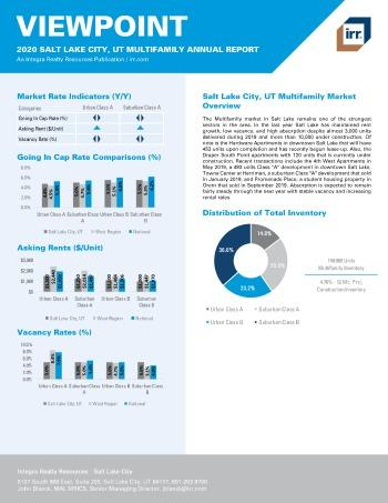 2020 Annual Viewpoint Salt Lake City Multifamily Report