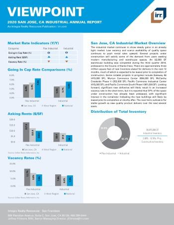 2020 Annual Viewpoint San Jose Industrial Report