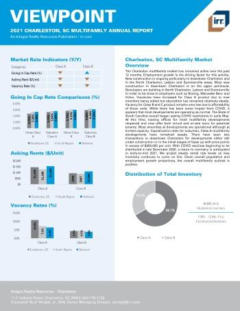 2021 Annual Viewpoint Charleston, SC Multifamily Report
